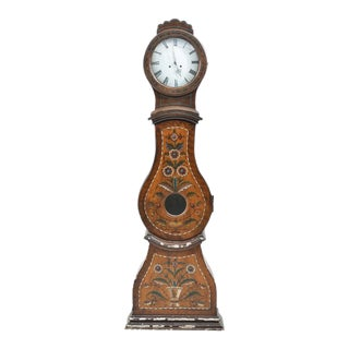 Antique Brown Mora Clock With Flower Paintings