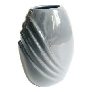 Vintage 80s Modern Mauve Embossed Vase For Sale
