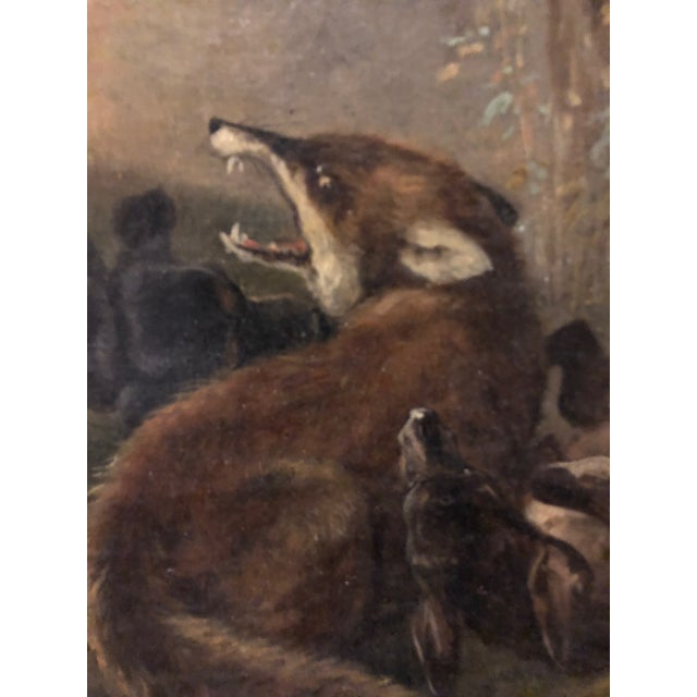 Gold Late 19th Century Antique Karl (Carl) Reichert Victorian Oil Painting For Sale - Image 8 of 13