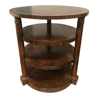Henredon Leather Inlay Lamp Table For Sale