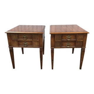 1960s Regency Heritage Cherry Side Tables - a Pair For Sale