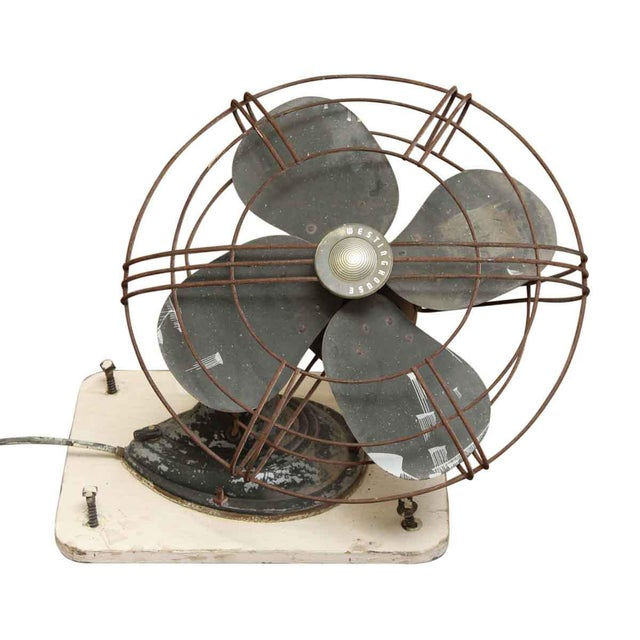 A wall mount fan made by Westinghouse that will give your space a bit of industrial flair.