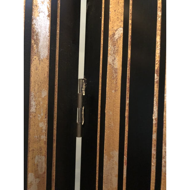 Black Maitland Smith Hollywood Regency Style Room Divider For Sale - Image 8 of 12