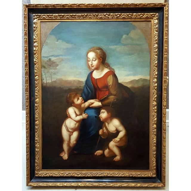 Madonna with Child -17th century Italian Old Master oil painting. 17th century Old Master Italian school unsigned, oil...