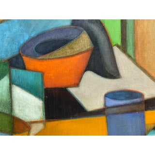Mid-Century Cubist Oil on Canvas Painting Preview