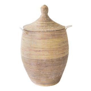 Artisan Made Dou Bou Ndaw Lidded Basket For Sale