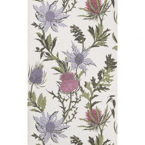 Contemporary Cole & Son Thistle Wallpaper Roll - Lilac/Cerise/White For Sale - Image 3 of 3