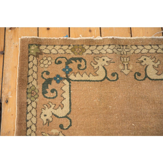 """Teal Vintage Chinese Rug - 3' X 4'10"""" For Sale - Image 8 of 10"""