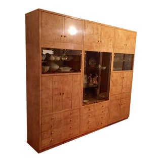 Henredon Burlwood Display Cabinet For Sale