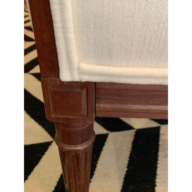 Carved Walnut and Upholstered Wingback Club Chair For Sale - Image 10 of 13