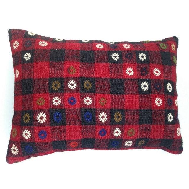 Boho Chic Vintage Turish Kilim Pillow For Sale - Image 3 of 6