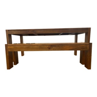 West Elm Boerum Dining Table and Bench 2 Pieces For Sale