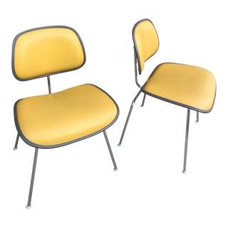 1971 Mid-Century Modern Herman Miller Yellow Fiberglass Chairs - a Pair