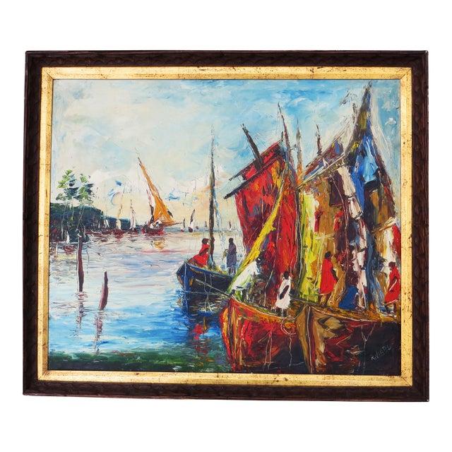 Raoul Viard Haitian Modernist Oil Painting For Sale
