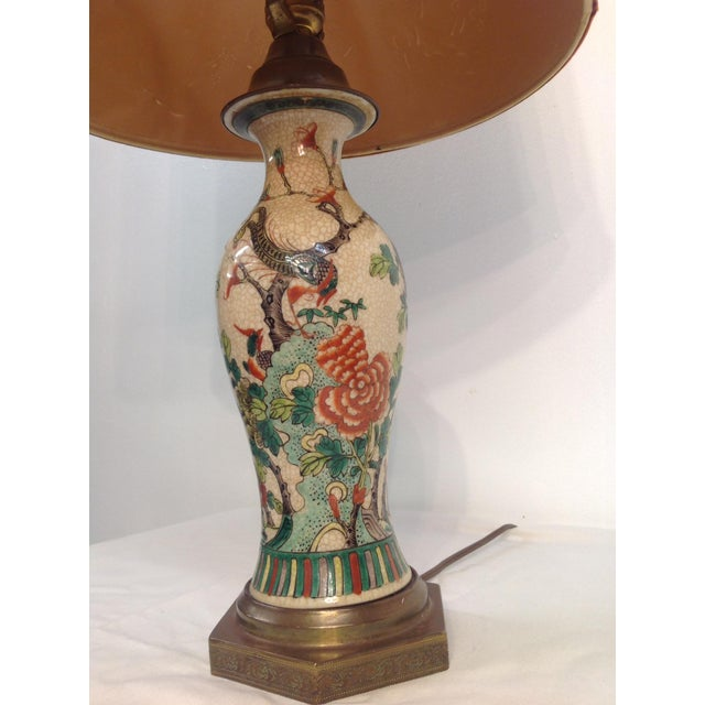 Antique Porcelain Asian Style Table Lamp - Image 6 of 9