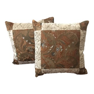 Venetia Studium Velvet Patchwork Pillows- a Pair