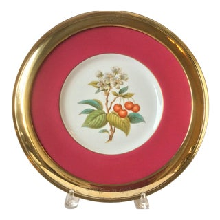 Silver Shreve and Company Spode Cherry Charger For Sale