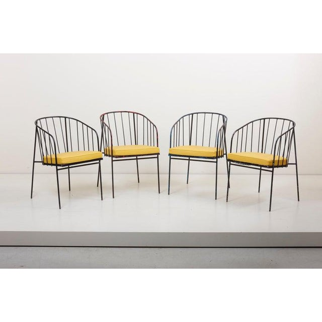 Set of Four Iron Rod Outdoor Chairs by George Nelson for Arbuck, 1950s For Sale - Image 13 of 13
