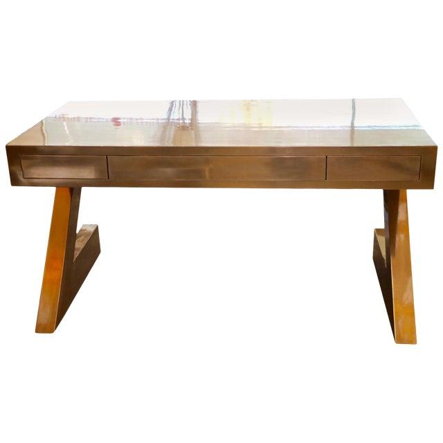 Zee Desk in Bronze by Bridges Over Time Originals For Sale