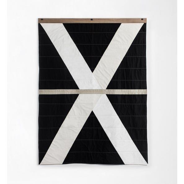 Louise Grey Signature Throw Quilt With Hanger Included For Sale In Minneapolis - Image 6 of 6