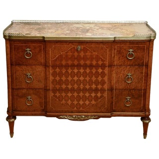 19c. French Parquetry Secretaire / Commode For Sale