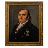 Image of Biedermeier Portrait of a Gentleman by Gustav Albrecht Traeger For Sale