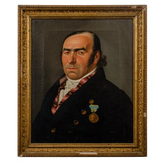 Biedermeier Portrait of a Gentleman by Gustav Albrecht Traeger For Sale