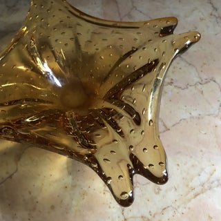 1970s Vintage Amber Glass Ashtray Preview
