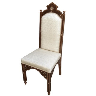 1980s Vintage Mother of Pearl Inlaid Moroccan Dining Chairs- A Pair Preview