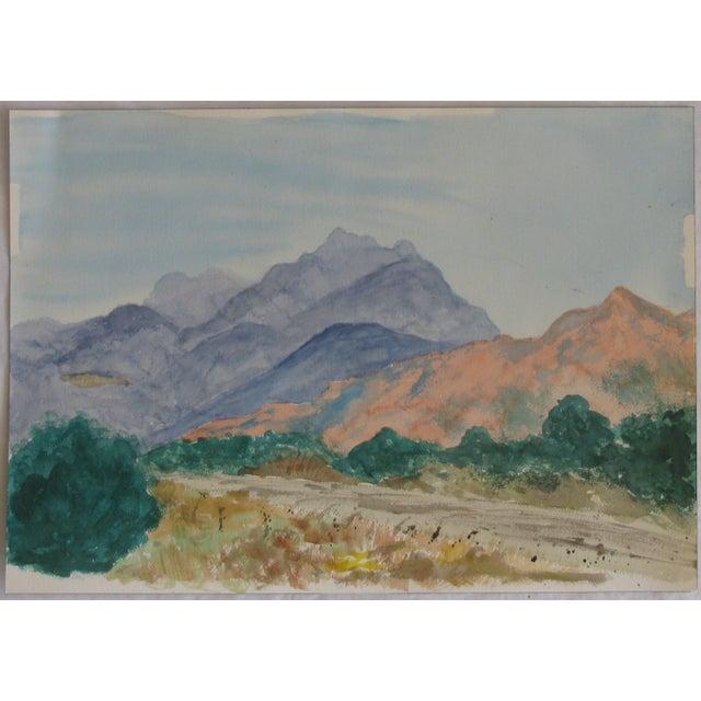 Americana Santa Fe Spring Watercolor For Sale - Image 3 of 3