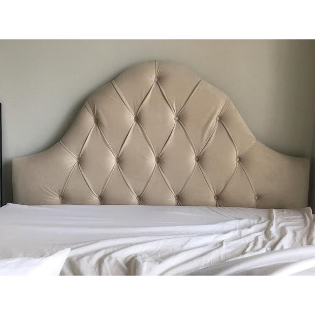 Queen Tufted Headboard in Wheat - Image 6 of 7