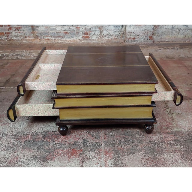 Maitland-Smith Stacked Leather Books Form Coffee Table For Sale In Los Angeles - Image 6 of 11