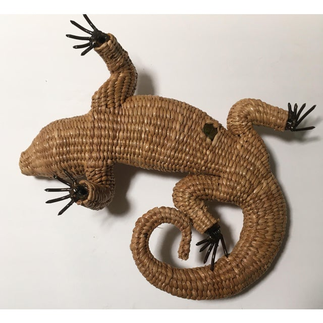 Vintage Mario Lopez Torres Woven Iguana Figurine For Sale In Tampa - Image 6 of 10