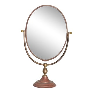 Vintage Modern Vanity Table Mirror Oval For Sale