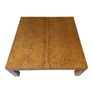 1970s Burl Wood Coffee Table For Sale