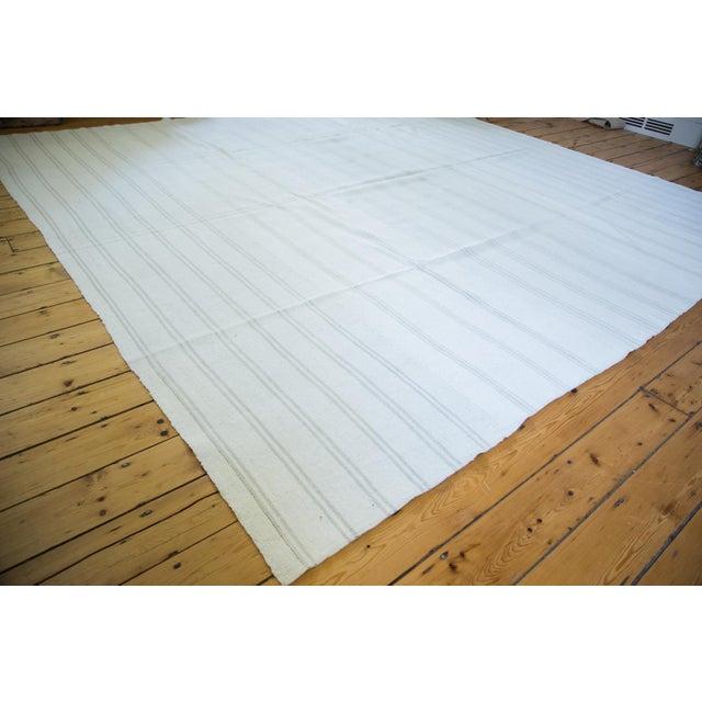 "Vintage Striped Flatwoven Carpet - 10' X 10'6"" - Image 2 of 5"