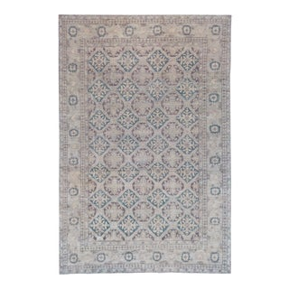 """Persian Mansour Genuine Handwoven Agra Rug - 6'3"""" X 9'2"""" For Sale"""