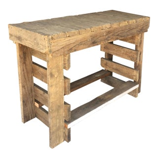 1980s Industrial Custom Made Table For Sale
