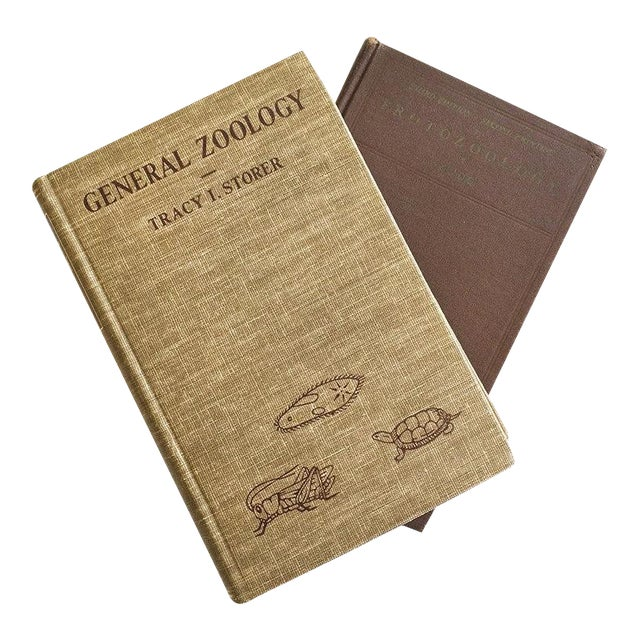 1943 and 1947 Zoology Illustrated Textbooks - Pair - Image 1 of 6