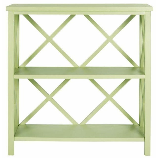 The Safavieh Liam open book case, crafted from pine in an avacado green finish, proves a versatile, multi-functional...