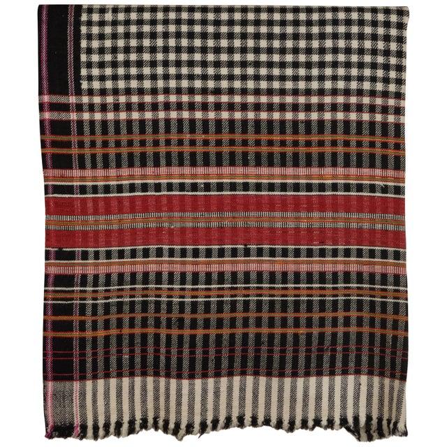 2010s Khadi Handwoven Wool Blanket For Sale - Image 5 of 5