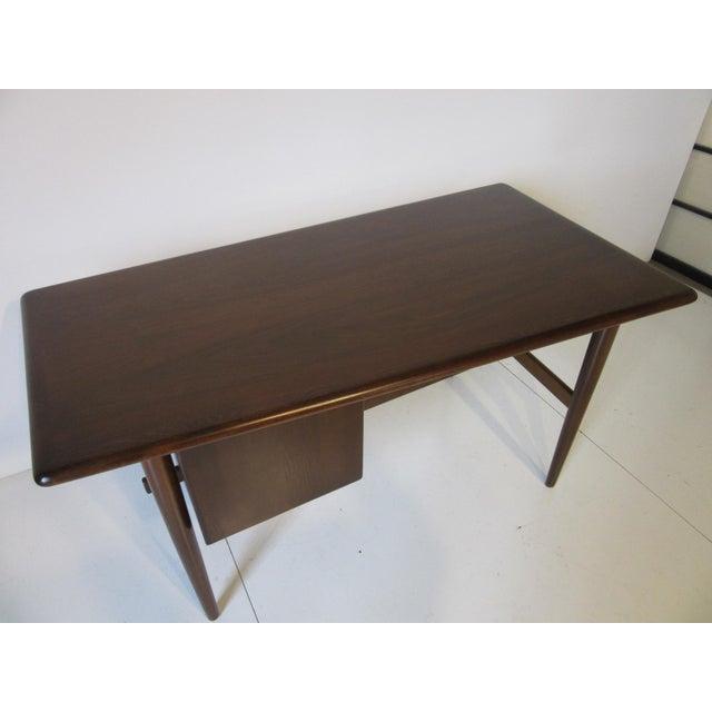 Brown Danish Mid-Century Desk For Sale - Image 8 of 10
