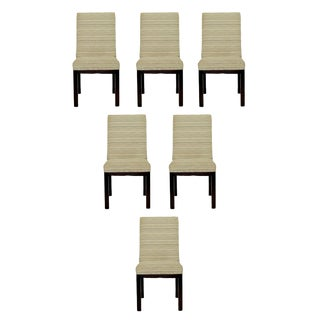 Mid Century Modern John Widdicomb Set 6 Wood Dining Side Chairs 1950s For Sale