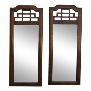 Hollywood Regency Pair of Wall Bathroom Vanity Mirrors by Henry Link For Sale