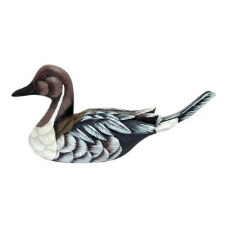 1970s Country Pintail Wood Duck Decoy For Sale