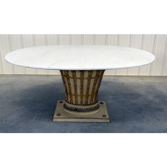 Wood Italian Parcel Gilt Dining Room Table For Sale - Image 7 of 7