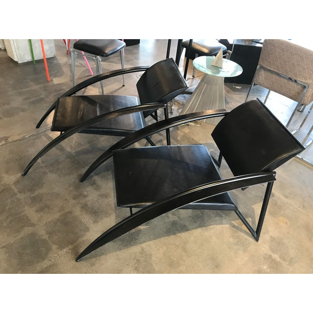 1980s Jean-Louis Godivier Sleek Armchair- A Pair For Sale - Image 11 of 11
