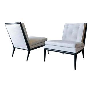 Pair of t.h. Robsjohn-Gibbings Slipper Chairs, Model Wmb, 1955 For Sale