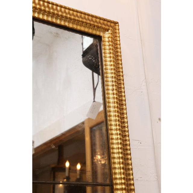Louis XVI Gilded Mirror For Sale - Image 4 of 8