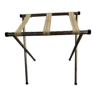 Mid-Century Folding Luggage Rack